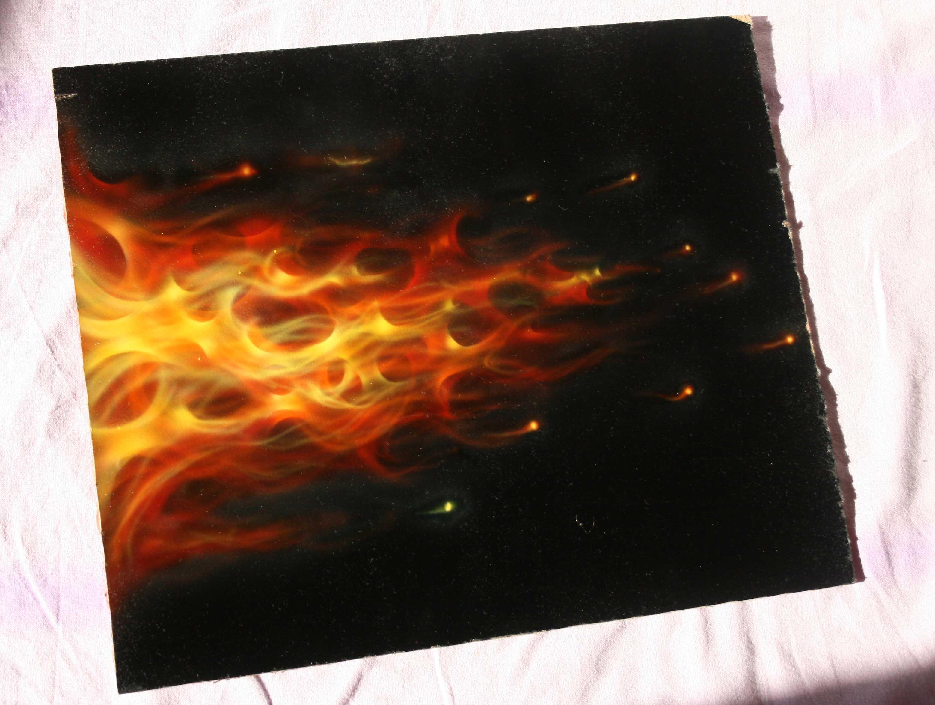 Аэрограф рисуем огонь