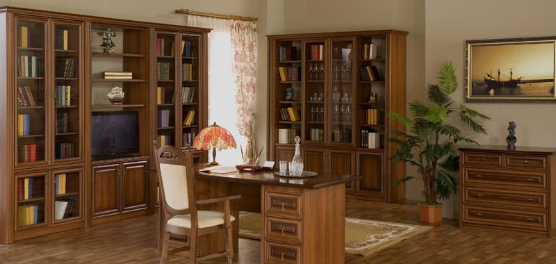 Меблі для домашньої бібліотеки гранд - купити меблі для дома.